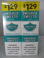Swisher Sweet Cigarillos 2/$1.29 ~ 30ct Pouch (Tropical Fusion)