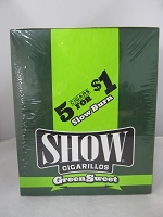 Show Cigarillos 5 Cigars For $1 ~ 15ct Pouch (Green Sweet)