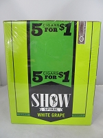 Show Cigarillos 5 Cigars For $1 ~ 15ct Pouch (White Grape)