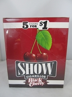 Show Cigarillos 5 Cigars For $1 ~ 15ct Pouch (Black Cherry)