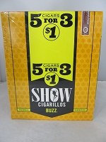 Show Cigarillos 5 Cigars For $1 ~ 15ct Pouch (Buzz)