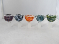 14mm Inside Multi Color Glass Bowl