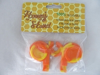 Double Silicone Jar Honey Stand