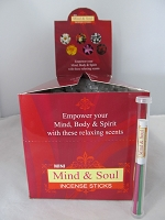 Mind & Soul Incense Straight Tube 72ct Display