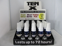 TEN X Air Freshener Odor Eliminator 20ct Display