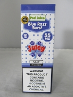 POD Juice 55mg Salt Nic 30ml (Blue Razz Burst)