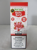 POD Juice 55mg Salt Nic 30ml (Belts Burst)