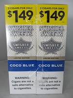 Swisher Sweet Cigarillos 2/$1.49 ~ 30ct Pouch (Coco Blue)