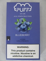 PUFF Salt Nic 5% 4ct JUUL Compatible Pods (Blueberry)