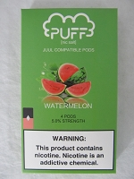 PUFF Salt Nic 5% 4ct JUUL Compatible Pods (Watermelon)