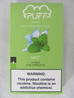PUFF Salt Nic 5% 4ct JUUL Compatible Pods (Mint)