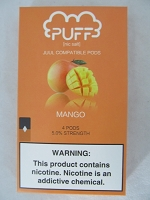 PUFF Salt Nic 5% 4ct JUUL Compatible Pods (Mango)