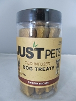 Just Pets CBD Infused Dog Treats 100mg Per Jar (Chicken Biscuits)