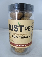 Just Pets CBD Infused Dog Treats 100mg Per Jar (Chicken Balls)