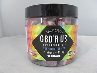 CBD R US Edible CBD 1000mg Jar (Very Berry Slices)