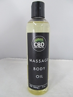 CBD The Cure All Massage Body Oil 100mg 8oz