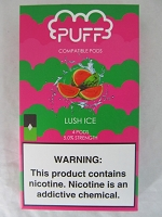 PUFF Salt Nic 5% 4ct JUUL Compatible Pods (Lush Ice)