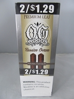 OG Woods Natural Premium Leaf 2 For $1.29 Russian Cream 15ct Display