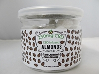 CBD Infused Edibles 5-6oz 250mg CBD (Dark Chocolate Aspen Almonds)
