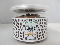 CBD Infused Edibles 5-6oz 250mg CBD (Pomegranate Yogurt Almonds)