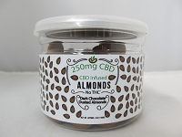 CBD Infused Edibles 5-6oz 250mg CBD (Dark Chocolate Dusted Almonds)