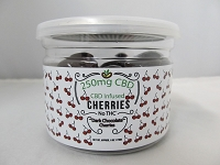 CBD Infused Edibles 5-6oz 250mg CBD (Dark Chocolate Cherries)