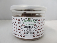 CBD Infused Edibles 5-6oz 250mg CBD (Dusted Dark Chocolate Cherries)