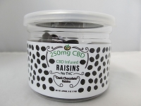 CBD Infused Edibles 5-6oz 250mg CBD (Dark Chocolate Raisins)
