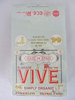 Rx Grade Vive Simply Organic 1-1/4 Herbal Paper 25 Booklets
