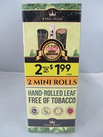 King Palm Mini Rolls 2pk for $1.99 40ct Display