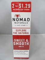 Nomad Natural Leaf Cigar 2 for $1.29 15ct (Sweet & Smooth)