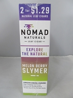 Nomad Natural Leaf Cigar 2 for $1.29 15ct (Melon Berry Slymer)