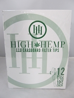 High Hemp Eco Cardboard Filter Tips 12 Pack Display