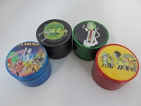 50mm Cartoon Character Multi Color 4 Part Grinder