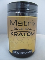 Matrix Gold Bali Kratom Powder 200 Grams Jar