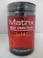 Matrix Red Vein Thai Kratom Powder 200 Grams Jar