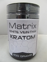 Matrix White Vein Thai Kratom Powder 200 Grams Jar