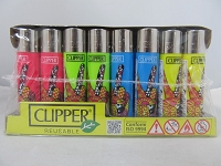 Clipper Refillable Lighter Hippie 2 48ct Display