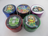56mm Cartoon Character Multi Color 4 Part Grinder