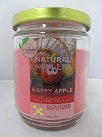 Natural Killers Deodorizer Candle 13oz (Happy Apple)