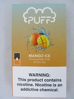 PUFF Salt Nic 5% 4ct JUUL Compatible Pods (Mango Ice)