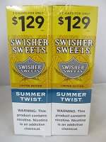 Swisher Sweet Cigarillos 2/$1.29 ~ 30ct Pouch (Summer Twist)