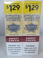 Swisher Sweet Cigarillos 2/$1.29 ~ 30ct Pouch (Sweet Cream)