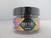 CBD R US Edible CBD 250mg Jar (Raspberry Fruit Gems) Vegan