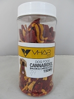 VHAR CBD Dog Treats 150mg 16oz (Bacon & Chesse Strips)