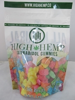 High Hemp Cannabidol CBD Gummies 750mg (Sour Gummy Bears)