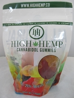 High Hemp Cannabidol CBD Gummies 250mg (Gummy Worms)