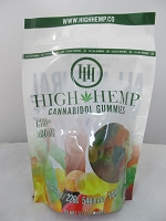 High Hemp Cannabidol CBD Gummies 500mg (Gummy Worms)