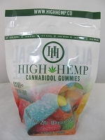 High Hemp Cannabidol CBD Gummies 250mg (Sour Gummy Worms)
