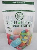 High Hemp Cannabidol CBD Gummies 500mg (Sour Gummy Worms)